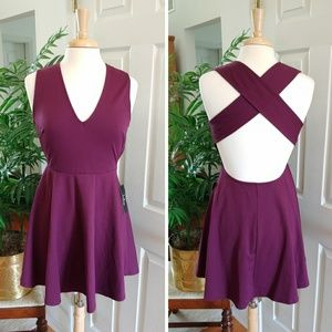 NWT Lulu's Backless Criss Cross Skater Dress